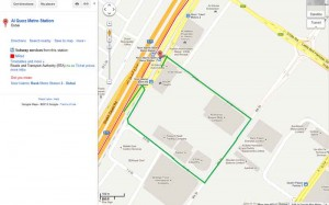 Google map...Noor Islamic Metro Station with the detour