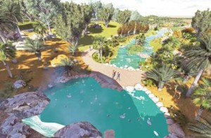 Image Credit: Courtesy: Dubai Municipality     An artist's impression of Dubai Safari, which will replace the Dubai Zoo. The project will comprise a zoo, butterfly park, botanical garden, resort and golf course and other facilities.