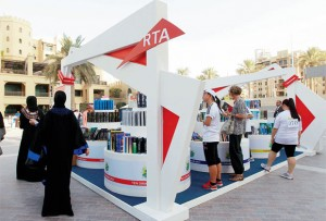 RTA's exhibition of used books. - KT photo by Grace Guino