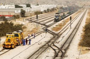 Reuters A file photograph of the railroad that links Riyadh and the port of Dammam in Saudi Arabia.