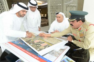 Mattar Al Tayer, Khamis Al Mazeina and other officials discuss the Traffic Accidents Management Unit. — Supplied photo