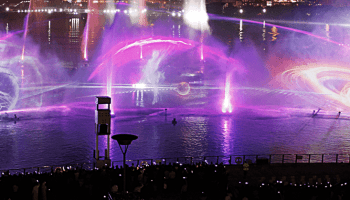 Imagine Water Fire And Light Show At Dubai Festival City Bay Dubai Ofw