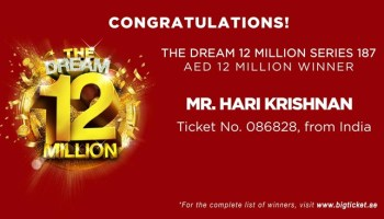 Indian Expat Wins 10 Million AED in Big Ticket Raffle