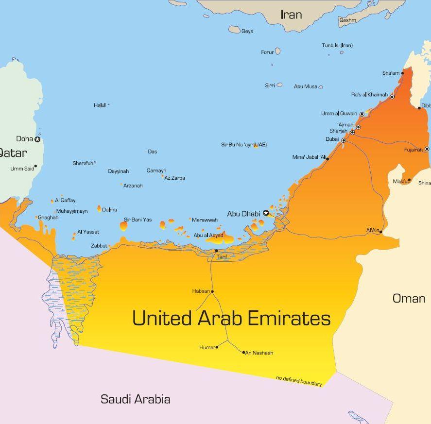 Egyesult-Arab-Emiratusok-terkep