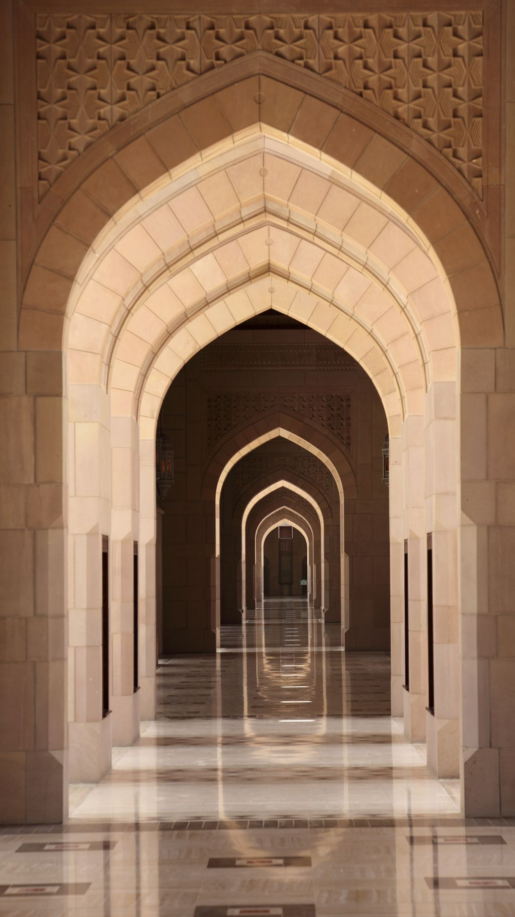 Archway in the Sultan Qaboos Grand Mosque, Muscat Oman