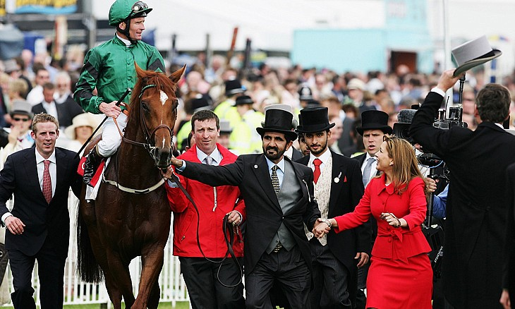Mohammed sejk a lovas sport elkötelezett híve