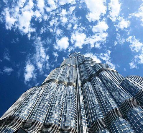 Burj Khalifa alulról