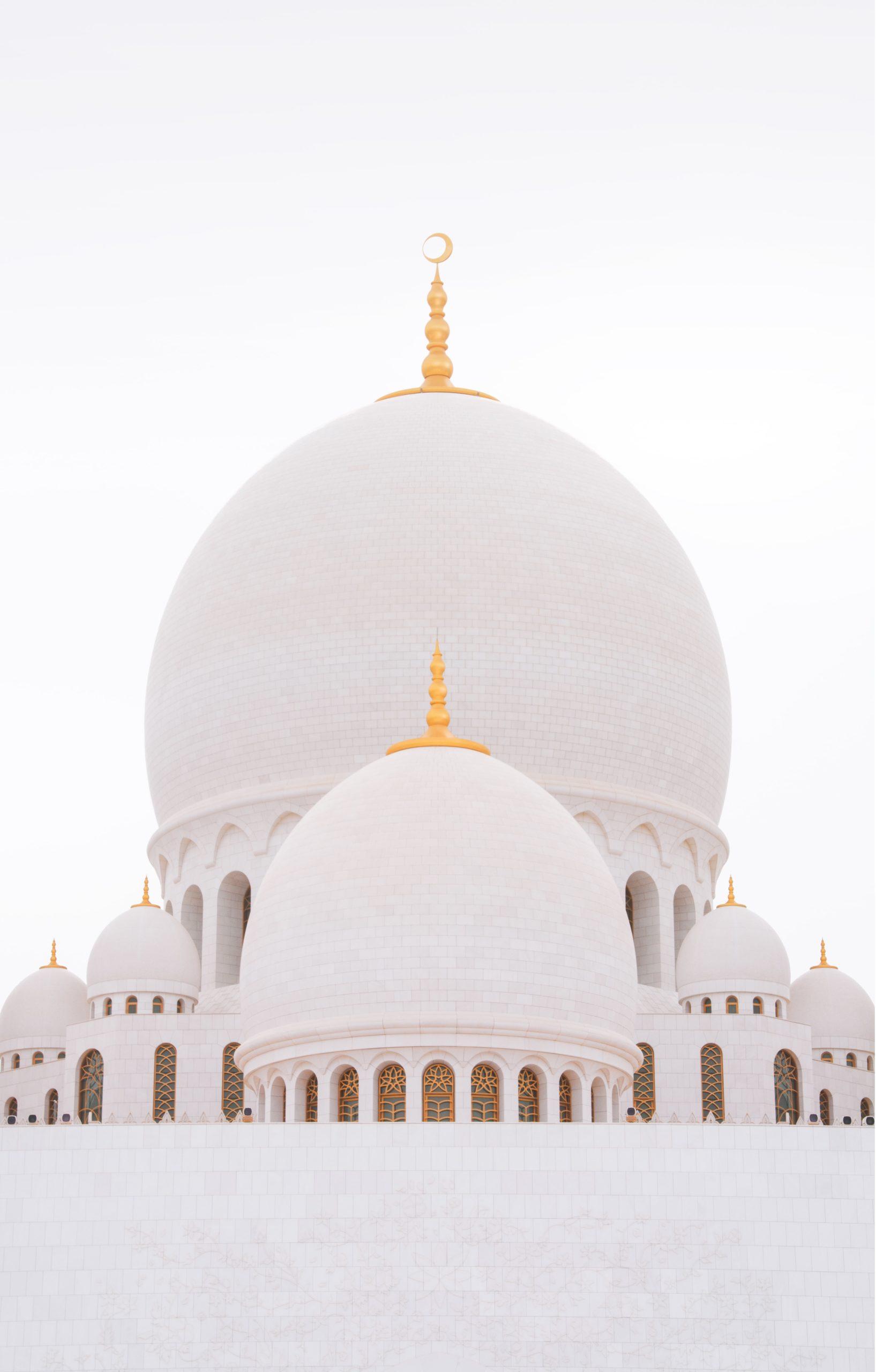 Sheikh Zayed mecset Abu Dhabiban - a gyönyörű kupola