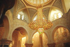 Sheikh Zayed mecset Abu Dhabiban