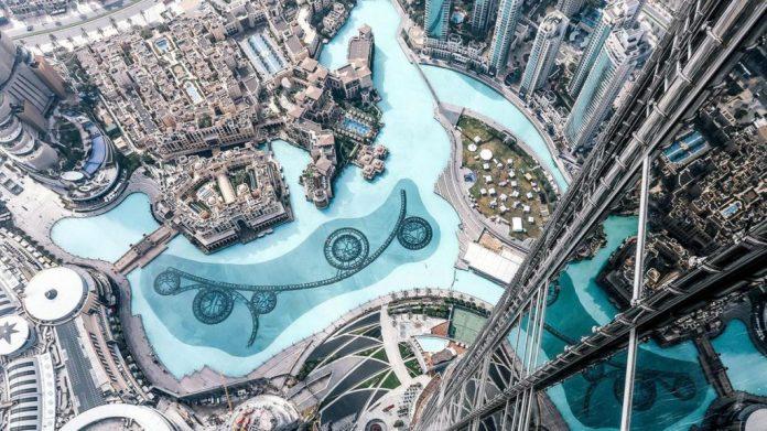Outside Burj Khalifa