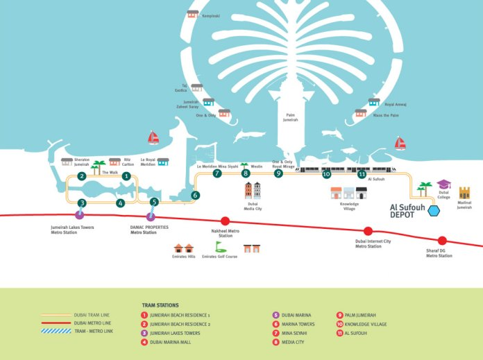 Dubai Tram Map
