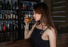 Lady Drinking Alcohol