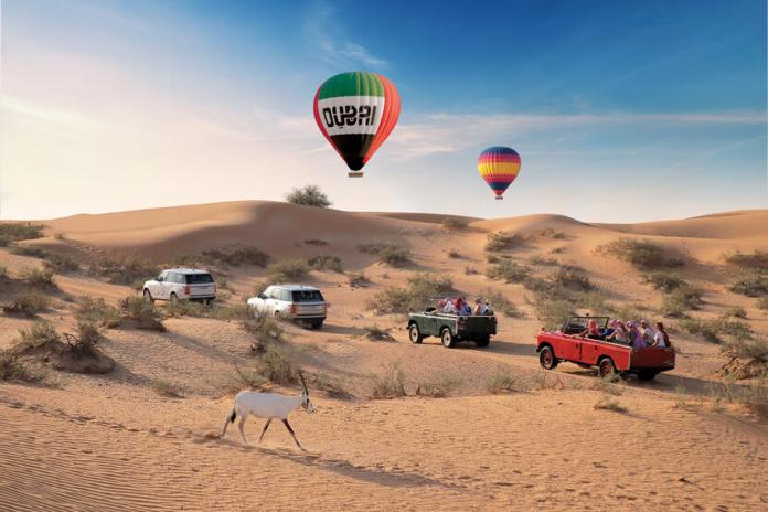 Hot air balloon ride in Dubai - Dubai Desert Safari
