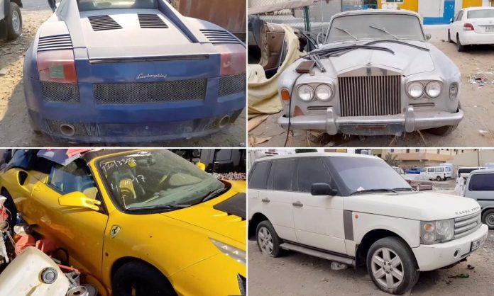 Abandoned Luxury and Classic in Dubai Scrapyard