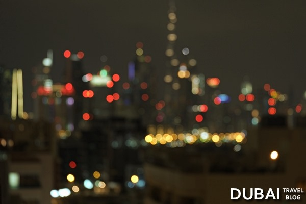 dubai skyline uae blurry