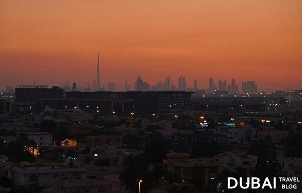 dubai skyline from qusais