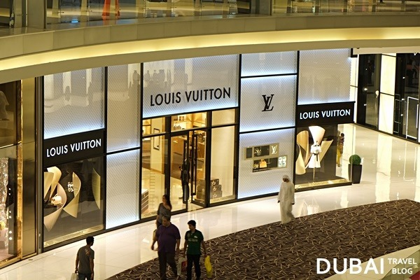 louis vuitton fashion avenue dubai mall