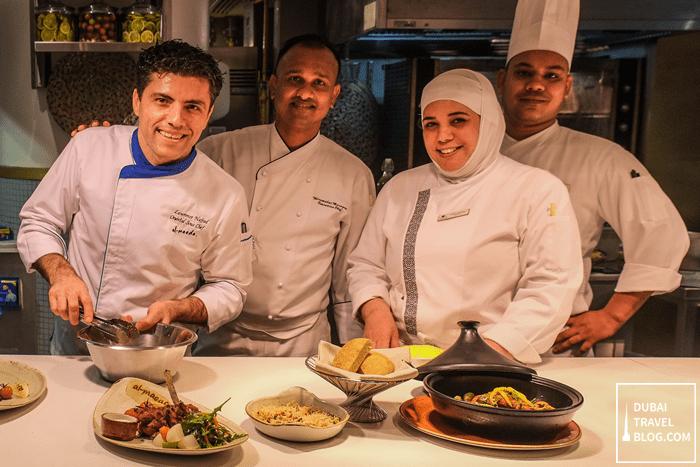 chefs at al maeda double tree hilton JBR
