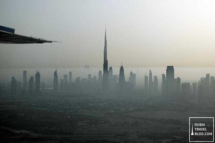dubai skyline via seawings tour