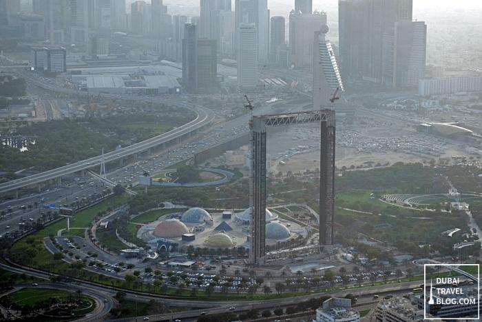 the frame dubai aerial view