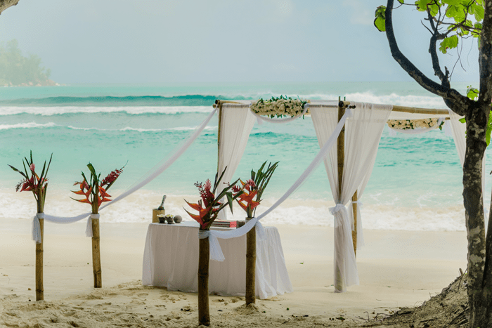 seychelles beach wedding