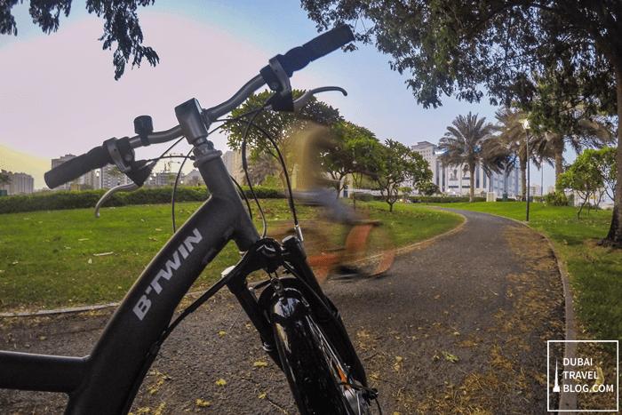Pond Park cycling dubai