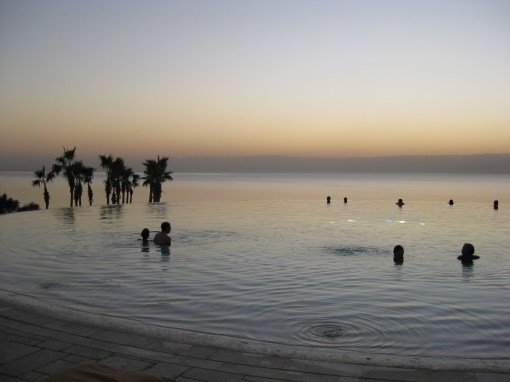 The Infinity Pool at the Kempinski hotel Jordan, on the Dead Sea