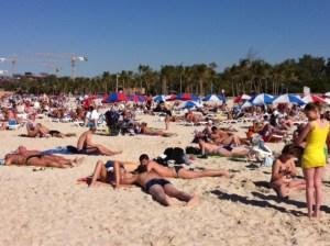 """The beach was too sandy!"""