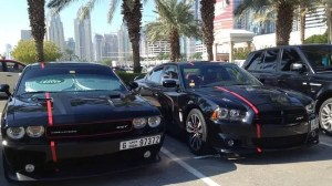 Not your average student car park. These vehicles are driven by 18-24 year olds studying at the American University of Dubai