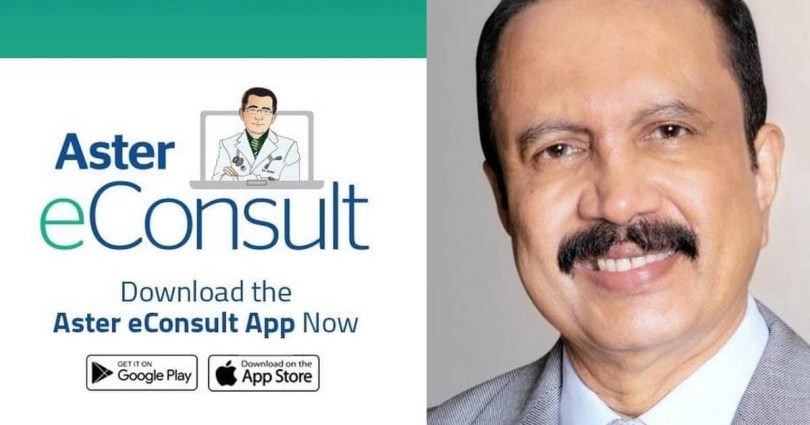 To provide free tele consultation to those in India UAE Aster DM Healthcare Doctors