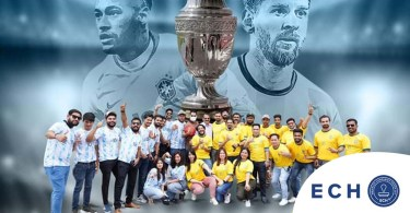 The excitement of the Copa America final at the ECH in Dubai