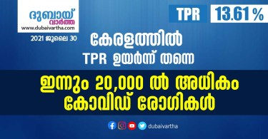 TPR is still high in Kerala: more than 20,000 Covid patients daily_JULY 30