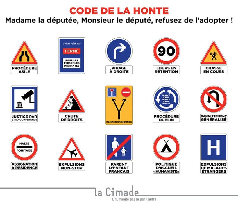 Cimade Code Honte 800