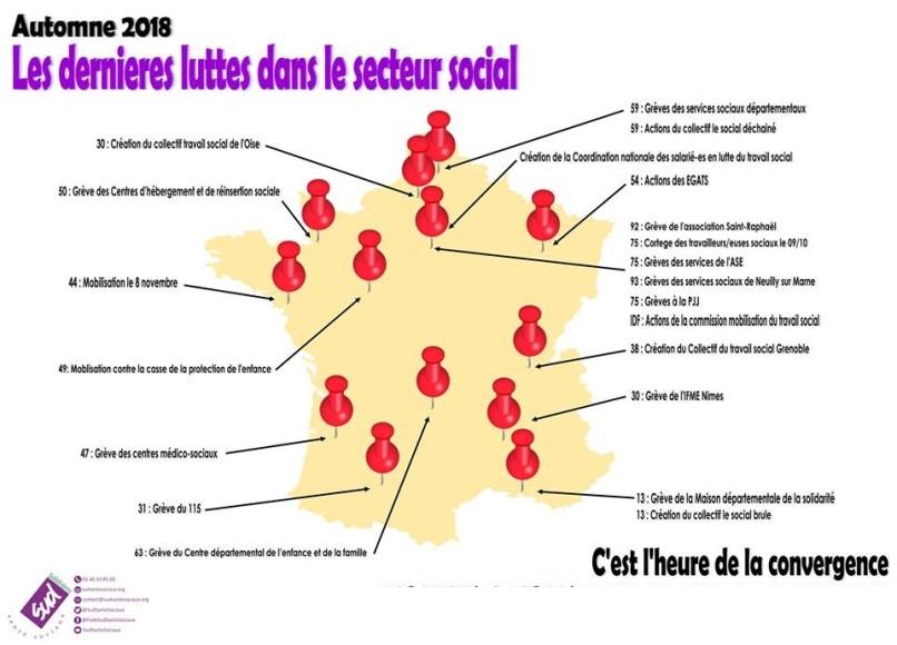 carte de France mouvements dans le social1