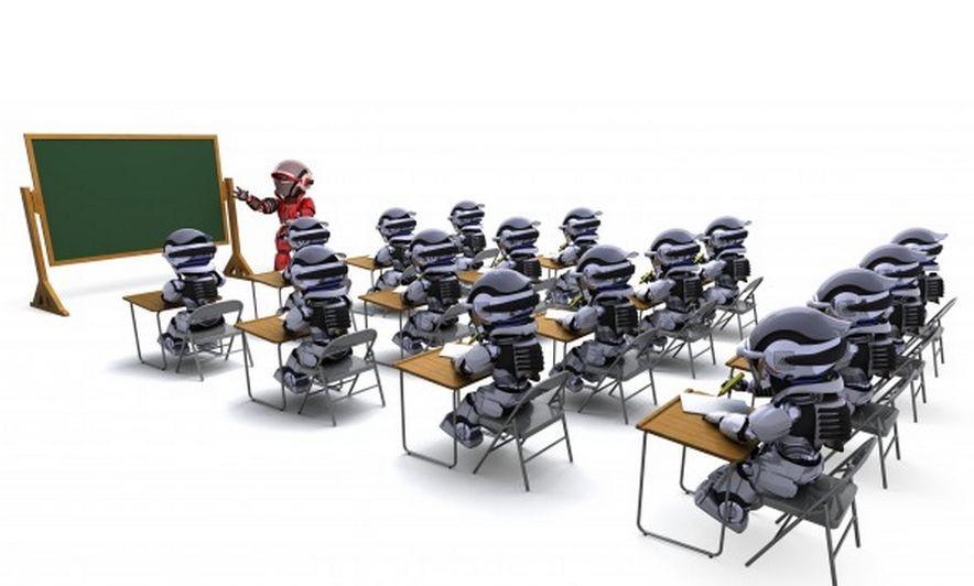 professeur robot dans classe 1048 3517