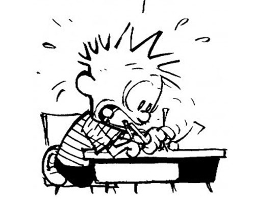 Exam Stress Buster : Sarah Scribbles and Calvin comic strips!