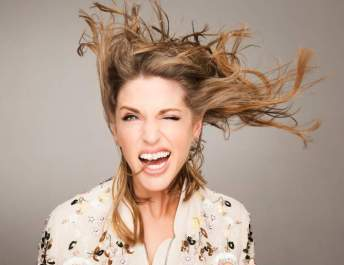 Amy Huberman for the Get Blown Away fundraiser campaign for ISPCC Childline