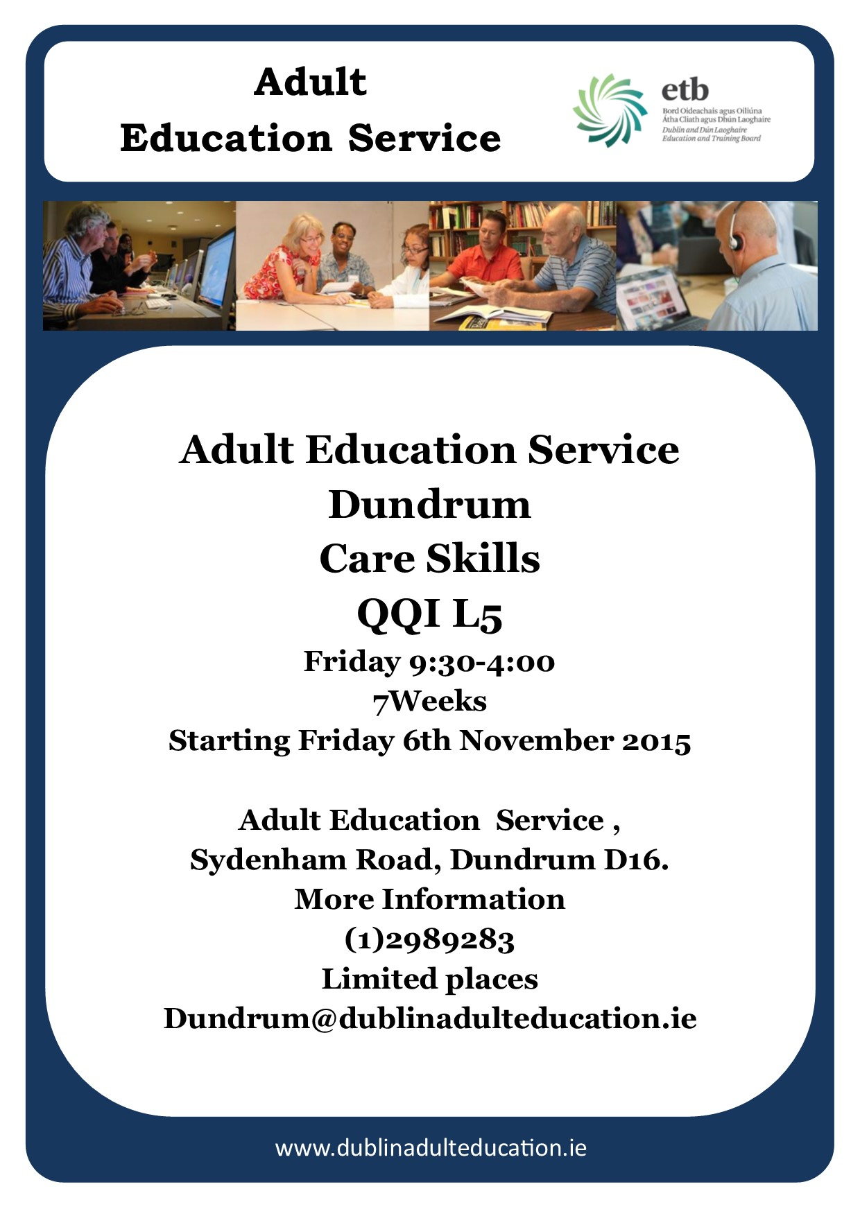 adult education and training careers