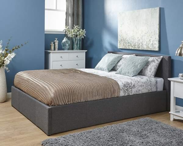 Fabric Ottoman Storage Bed Frame