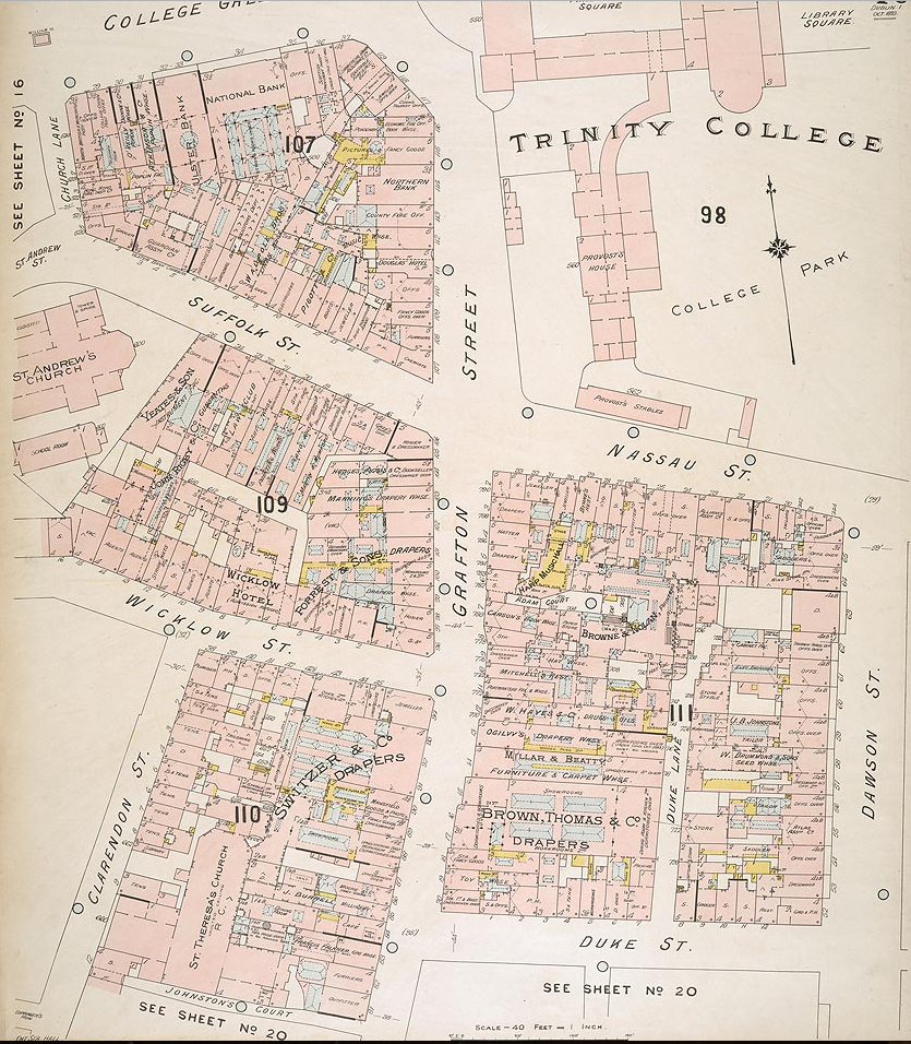 Grafton St Northern SEction (Code Fire Insurance map, British Library) N Section) North