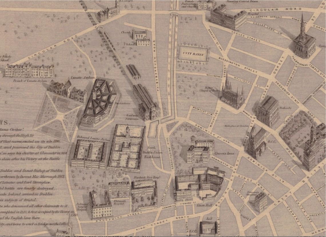 MAP Heffernans 1861 Map LINNENHALL RICHMOND Pent