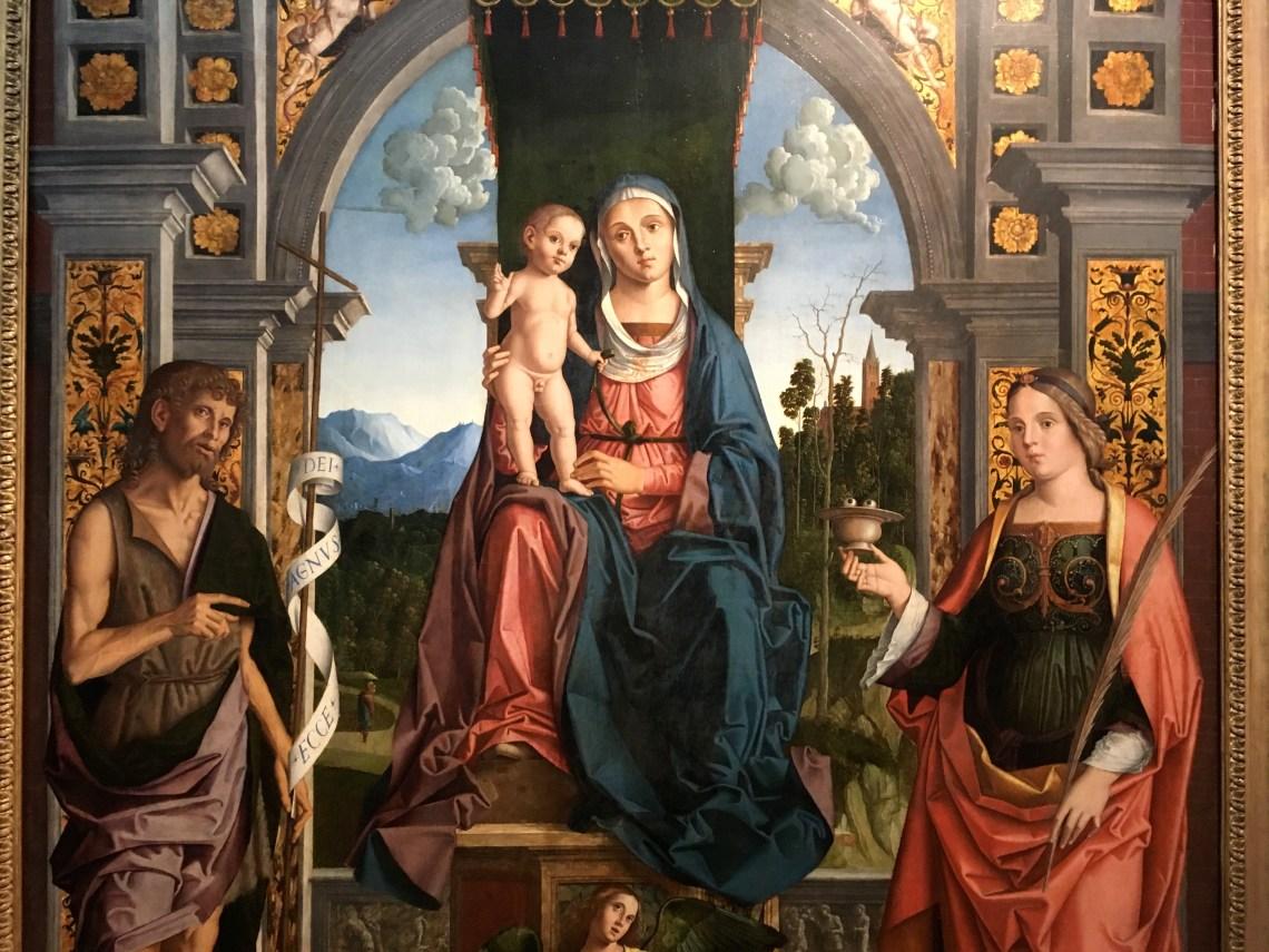 S Madonna w Saints by Marco Palmzanno NGI