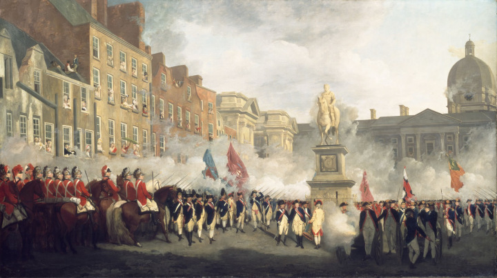 francis-wheatley-the-dublin-volunteers-on-college-green-4th-november-1779