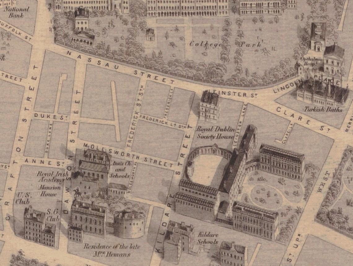 KILDARE St Area Detail Daniel Heffernan Map