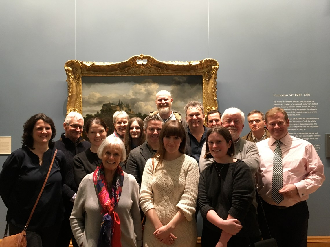 My favouite Art Tour Group Shot Arran with guests at the NGI National Gallery of ireland on a Dublin Decoded tour