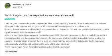 Review Trip Advisor How to Read a Painting Tour NGI