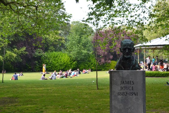 James Joyce's (irish writer) Sculpture in Dublin