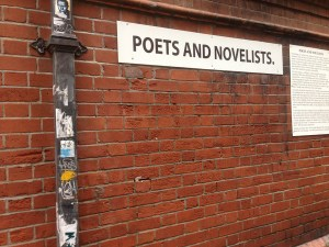 Poets and Novelists Alley in Dublin