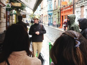 Rainy walk around Dublin