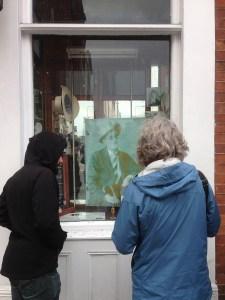 james joyce at Sweny's window shop